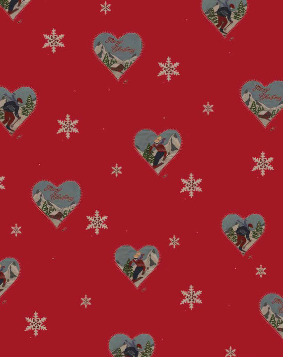 Jan Constantine Red Christmas Alpine Wrapping Paper