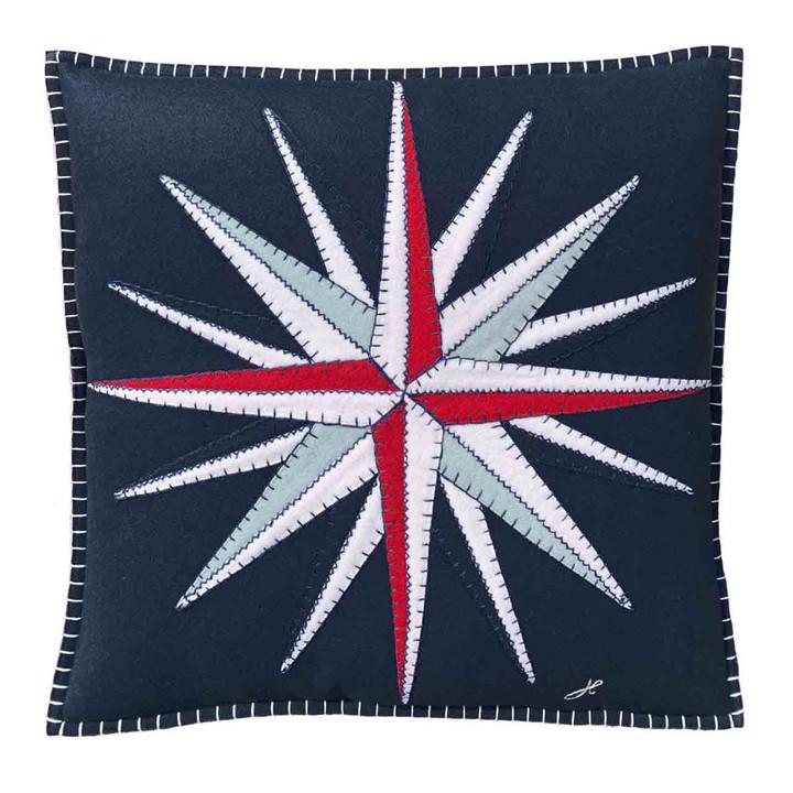 Compass Cushion (Navy Blue)