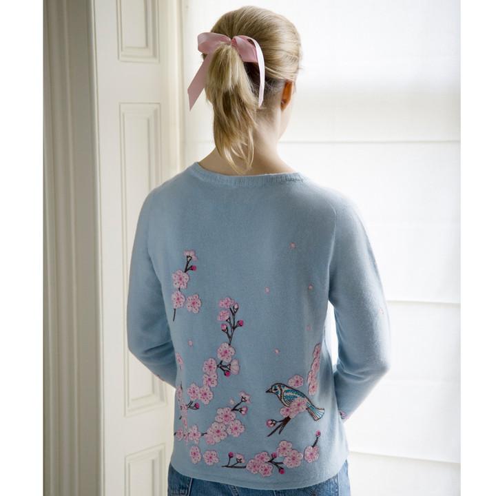 Jan Constantine Cherry Blossom Cashmere Cardigan