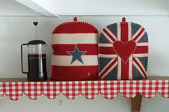 Union Jack Coffee Cosy (Grey)