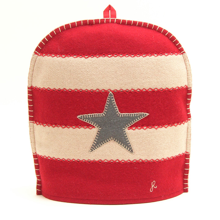 American Star and Stripe Coffee Cosy (Red)