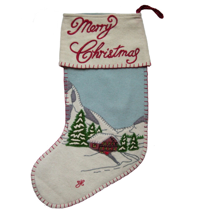 Jan Constantine Alpine Chalet Stocking (Duck Egg Blue)