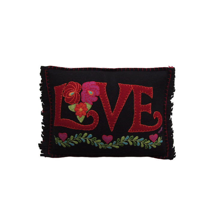 Jan Constantine Fiesta Mini Love Cushion (Black)