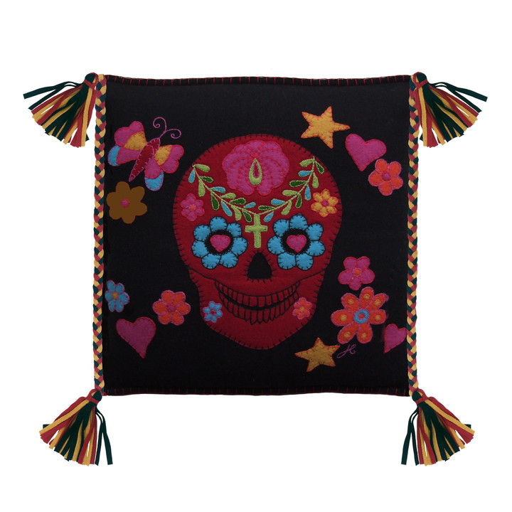 Fiesta Mexican Skull Cushion