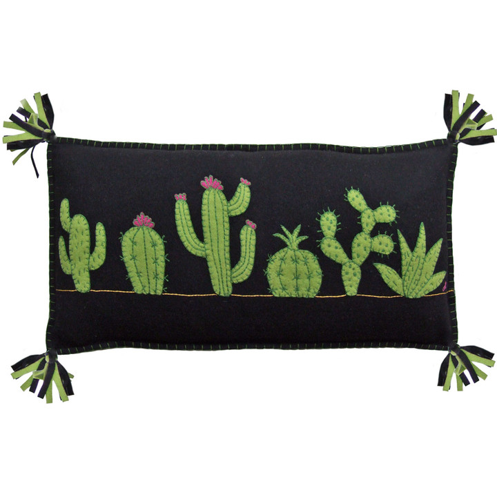 Jan Constantine Fiesta Cactus Cushion (Black)
