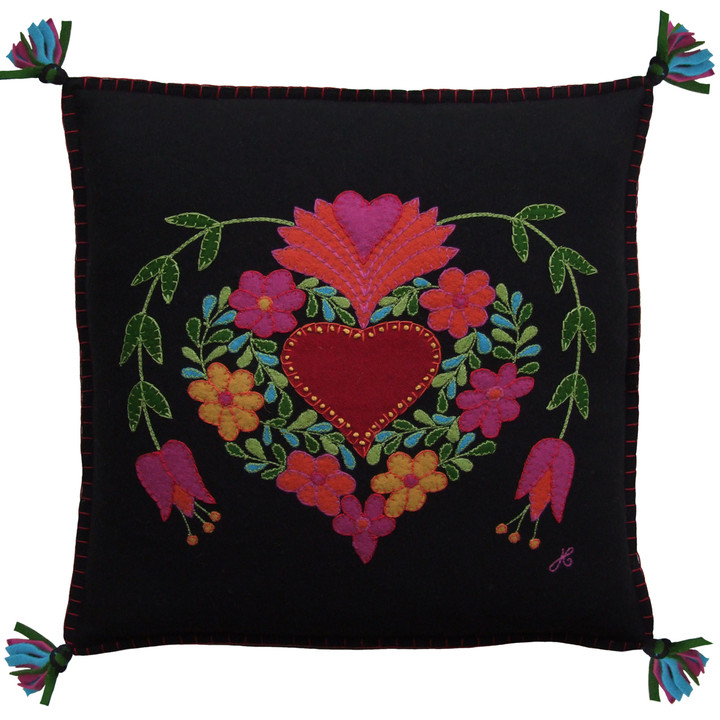Fiesta heart cushion