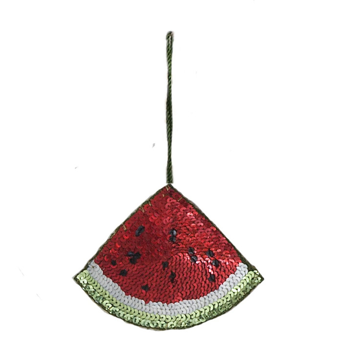 Sequin Watermelon Decoration (Red)