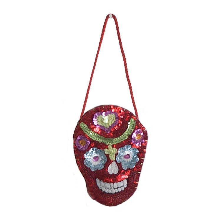 Jan Constantine Sequin Skull Decoration