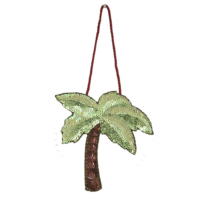 Sequin Palm Tree Decoration (Green)