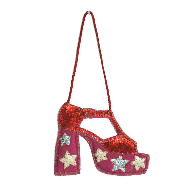 Jan Constantine Sequin Glam Rock Shoe Decoration