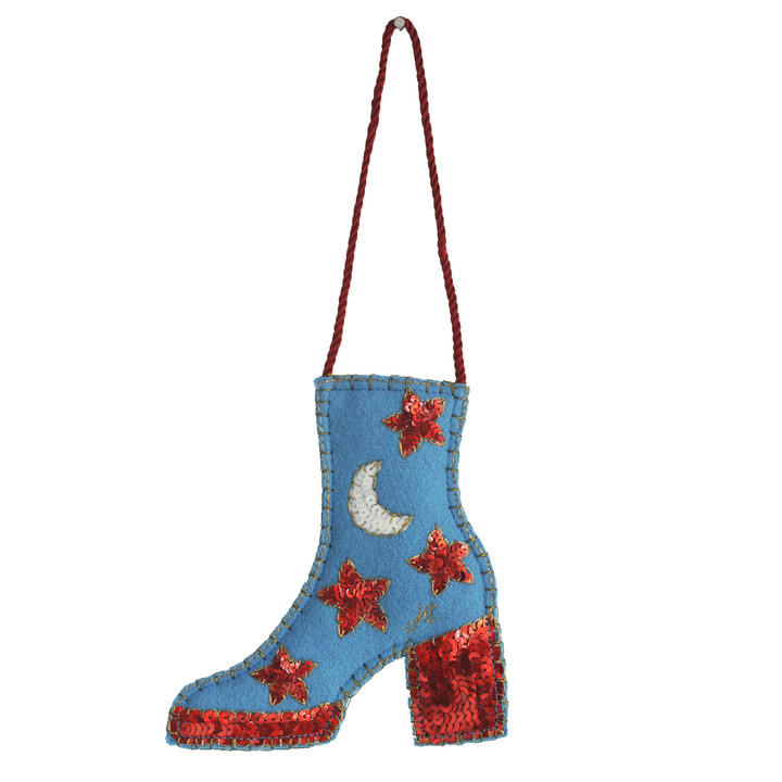 Sequin Glam Rock Boot Decoration (Blue)