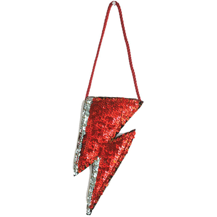 Sequin Ziggy Christmas Decoration (Red)