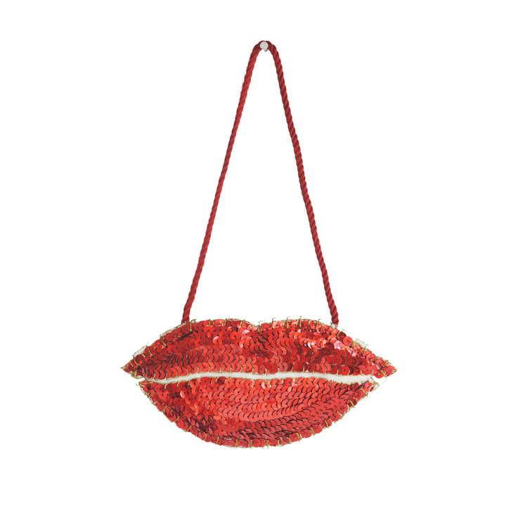 Sequin Lips Decoration (Red)