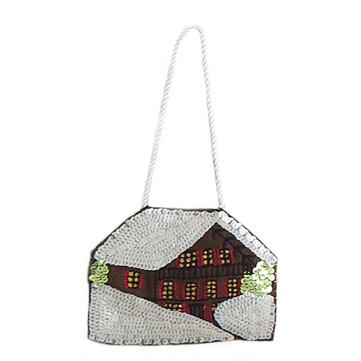 Jan Constantine Alpine Sequin Chalet Decoration