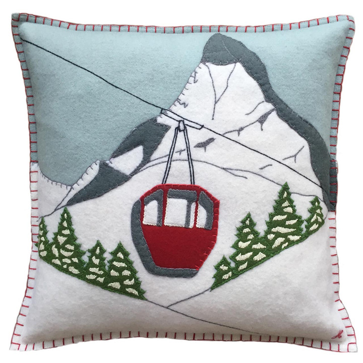 Jan Constantine Alpine Cable Car  Cushion (DEB)