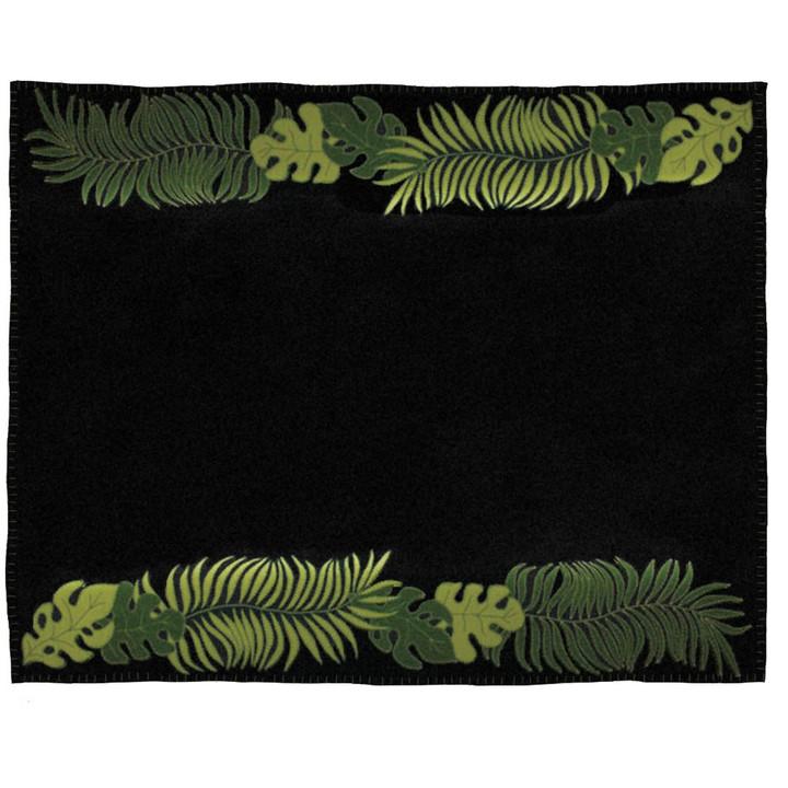 Jan Constantine Tropical Palm Throw (Black)