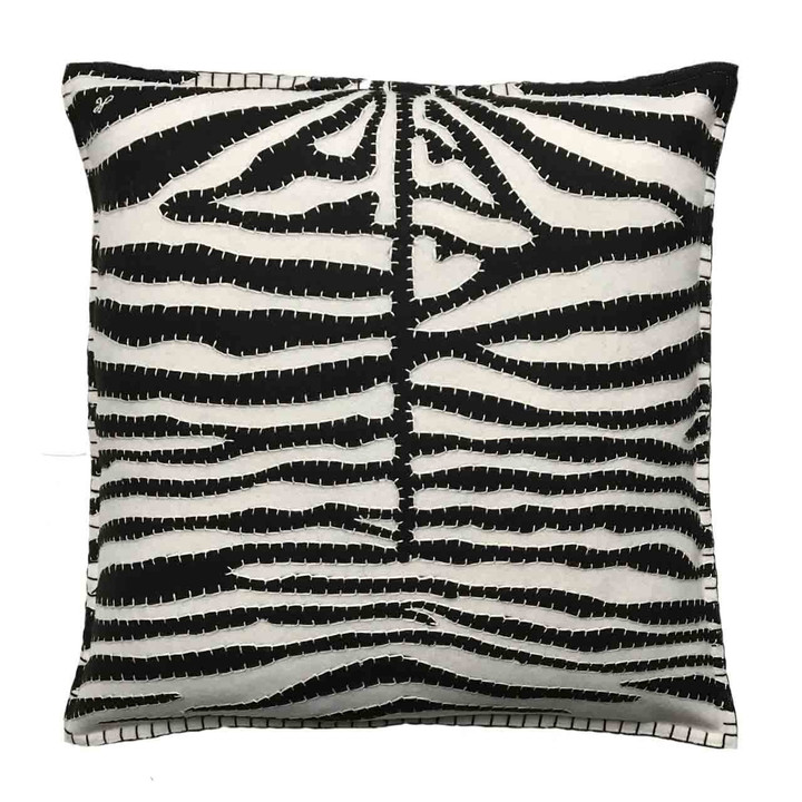 Jan Constantine Zebra Skin Cushion (Cream)
