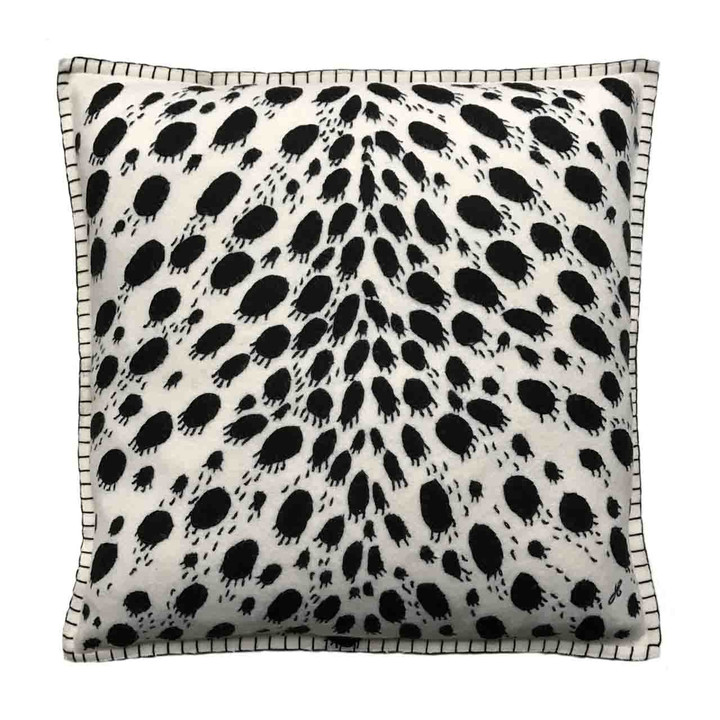 Jan Constantine Cheetah Skin Cushion (Cream)