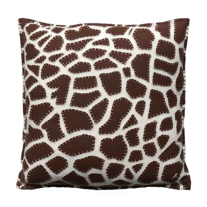 Jan Constantine Giraffe Skin Cushion (Cream)
