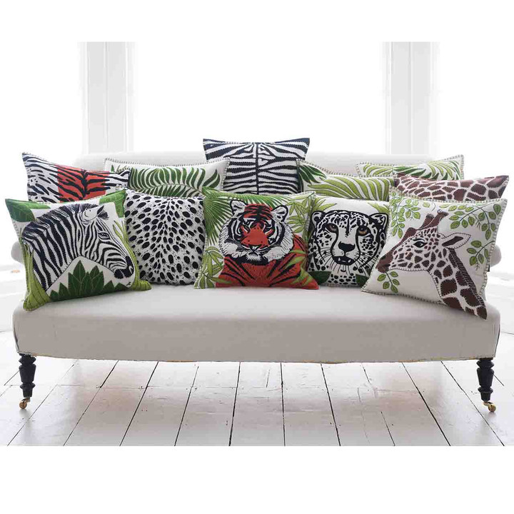 Jan Constantine Tiger Skin Cushion (Cream)