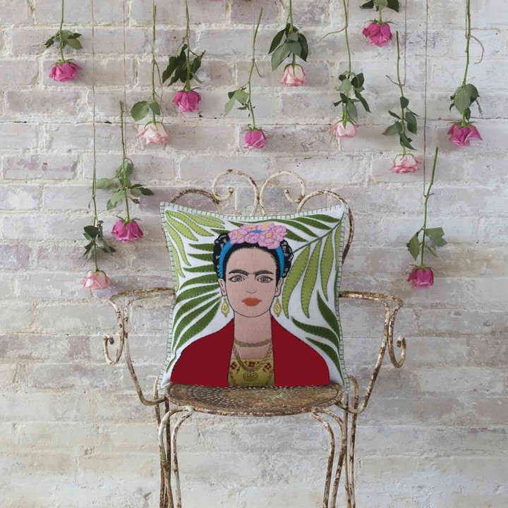 The Frida Kahlo Cushion (Cream)