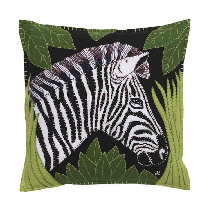 Jan Constantine Zebra Cushion (Black)