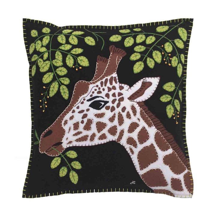 Jan Constantine Giraffe Cushion (Black)