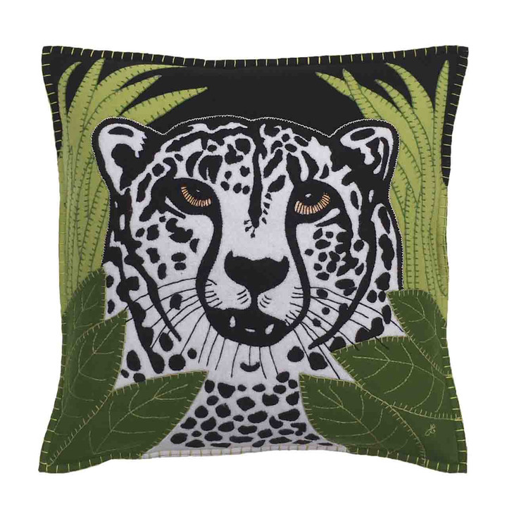 Jan Constantine Cheetah Cushion (Black)