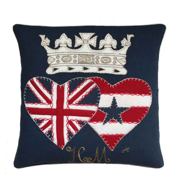 Jan Constantine Limited Edition Royal Wedding Cushion (Navy)