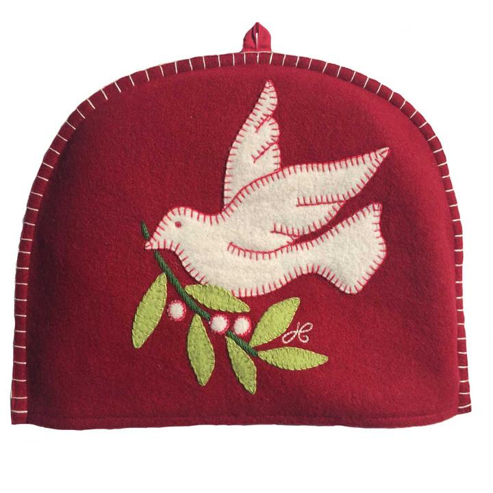 Jan Constantine Christmas Dove Tea Cosy (Red)