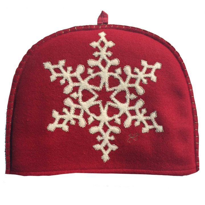 Jan Constantine Fretwork Snowflake Tea Cosy (Red)