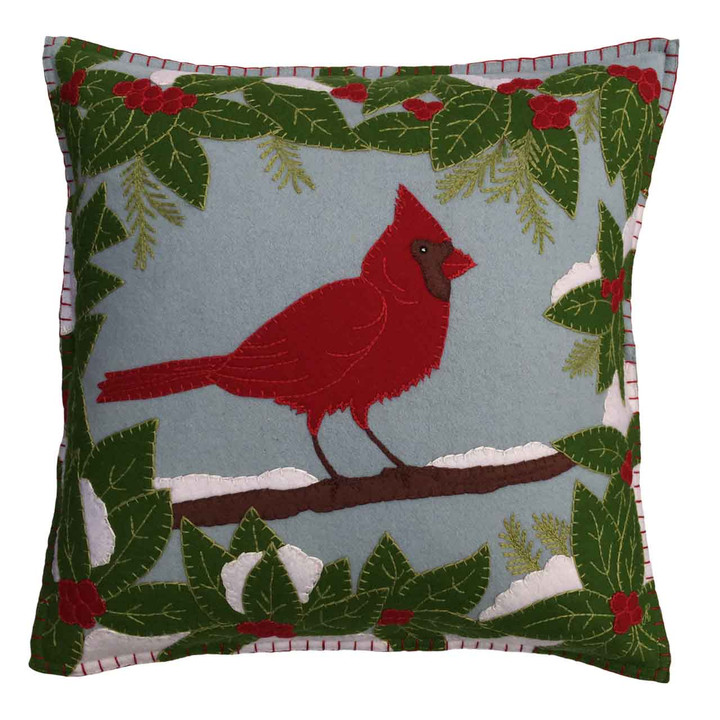 Cardinal Cushion (Duck Egg Blue)