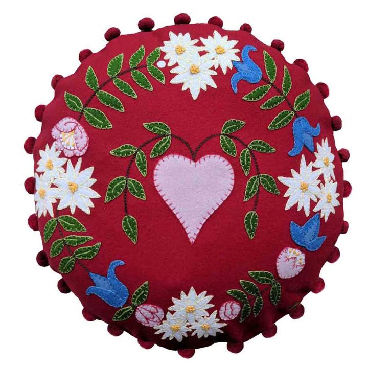 Jan Constantine Alpine Heart Cushion (Red)