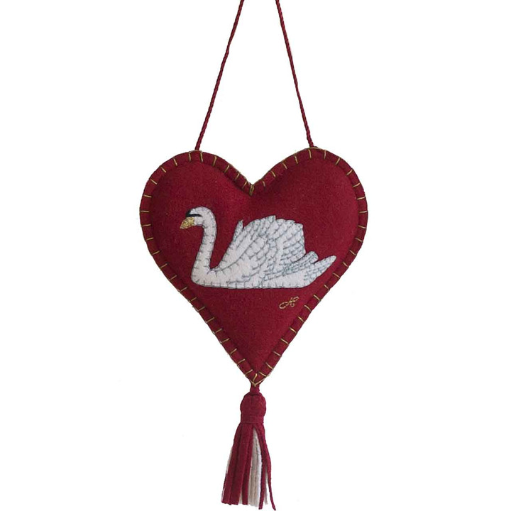 Swan Lavender Heart (Red)