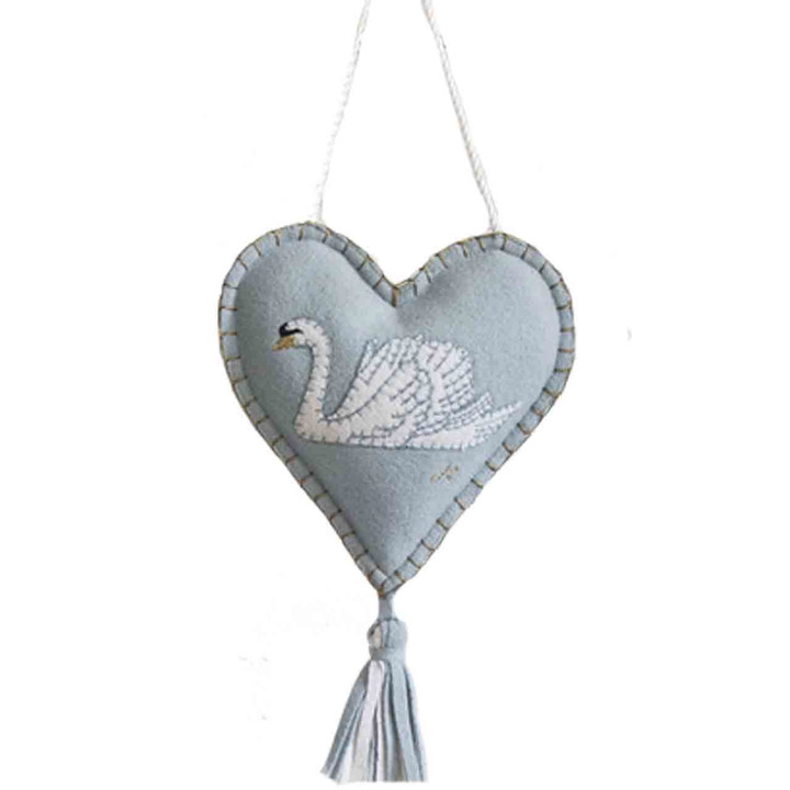 Swan Lavender Heart (Duck Egg Blue)