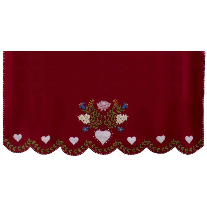 Alpine Edelweiss Christmas Throw (Red)