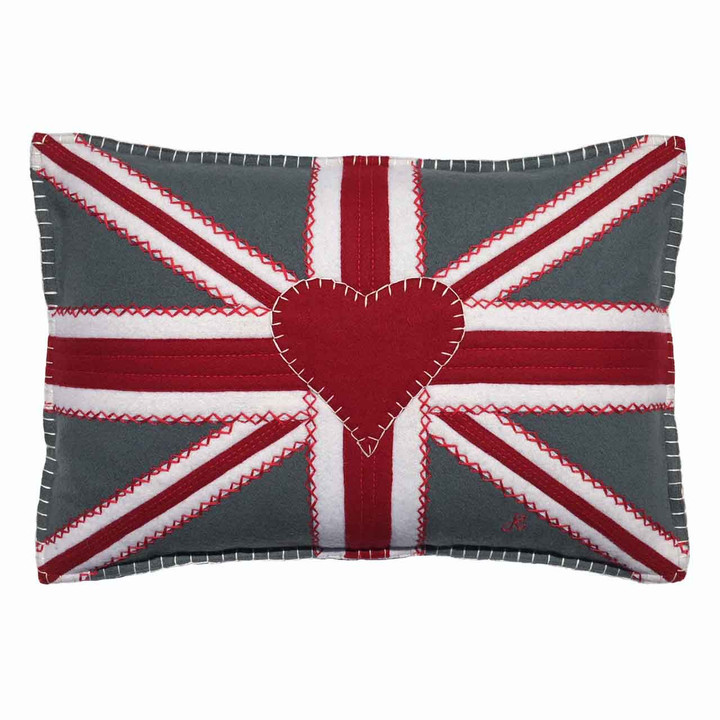 Union Jack Cushion (Grey)
