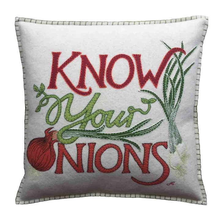 Know Your Onions Cushion (Cream)