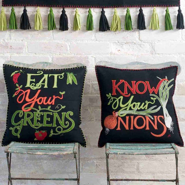 Know Your Onions Cushion (Black)