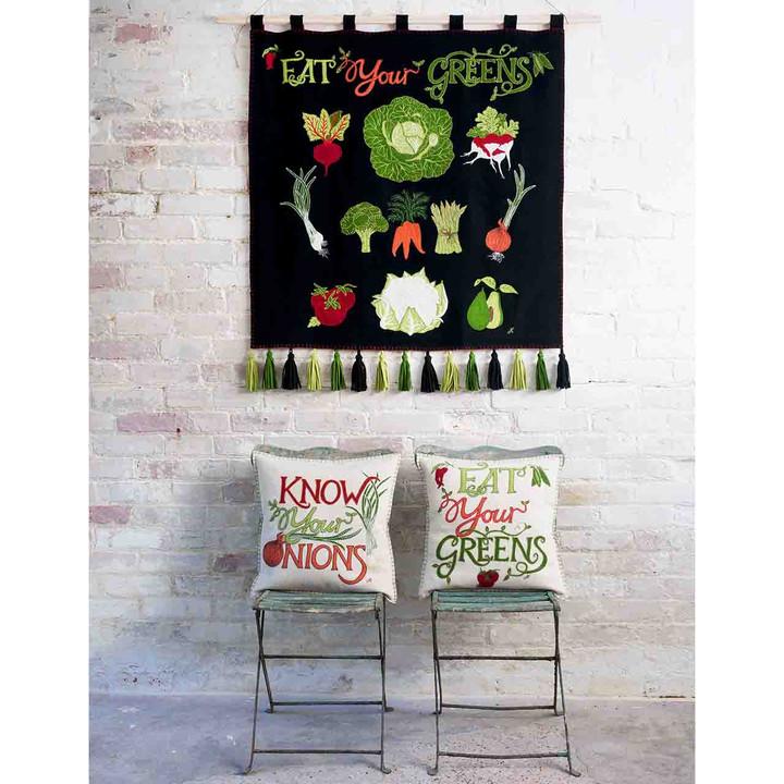 Eat Your Greens Cushion (Cream)