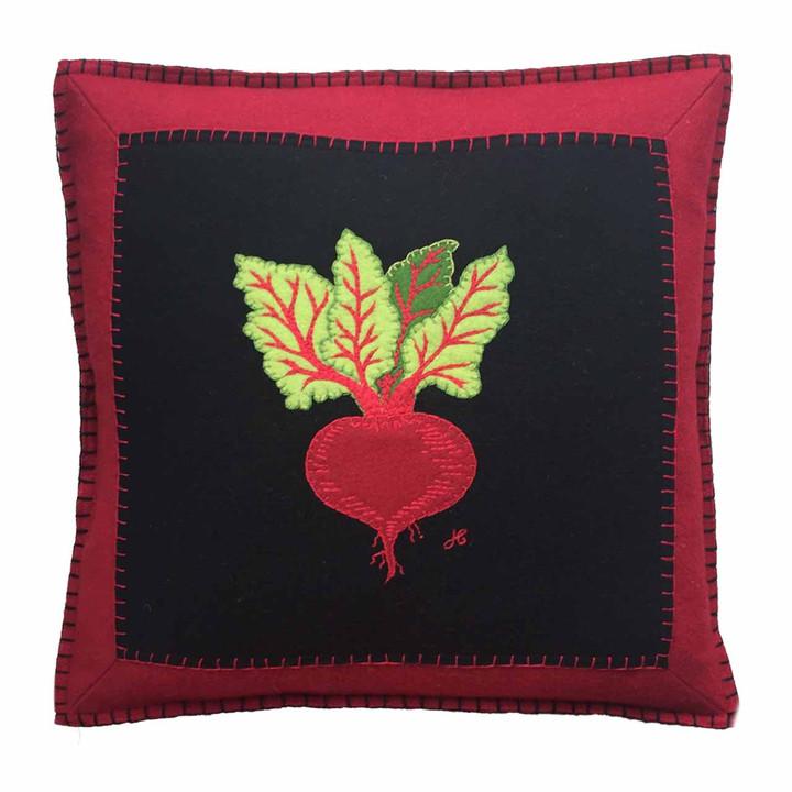 Beetroot Cushion (Black)