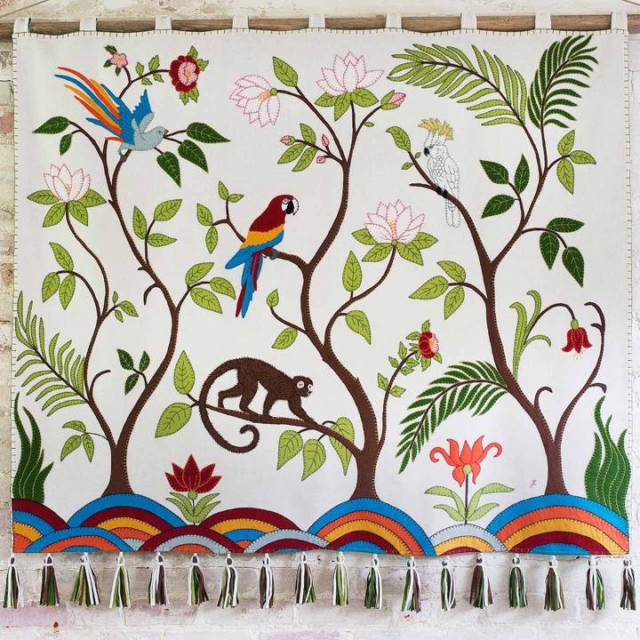 Tropical Paradise Wall Hanging (Cream)