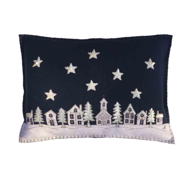 Starry Night Christmas Cushion (Navy blue)