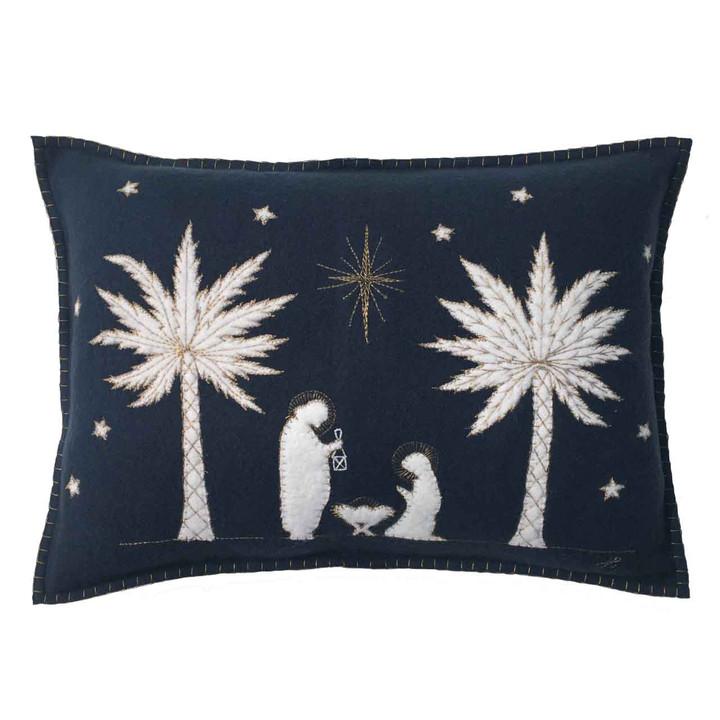 The Nativity Christmas Cushion (Navy blue)