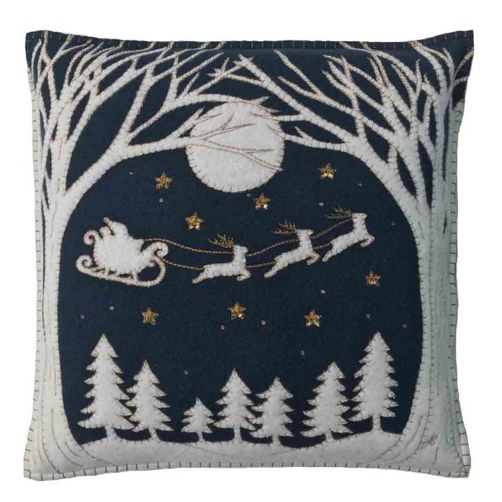 Christmas Eve Cushion (Navy blue)
