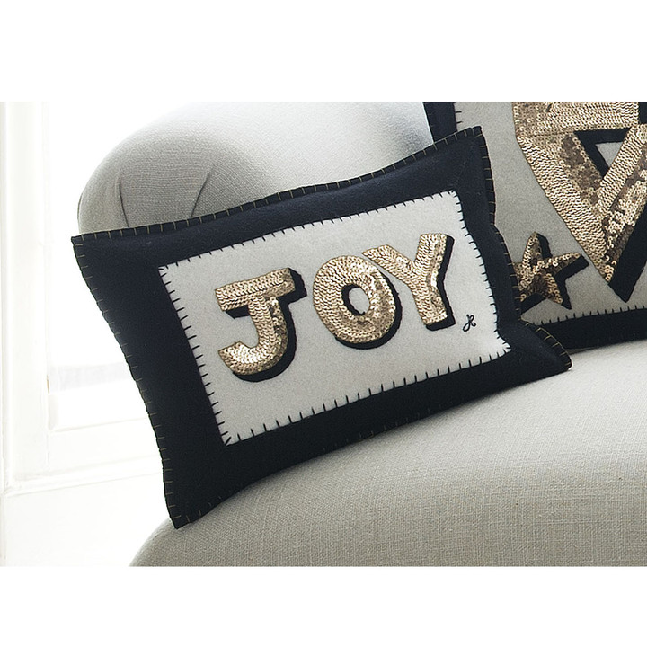 Sequin Joy Cushion (Cream)