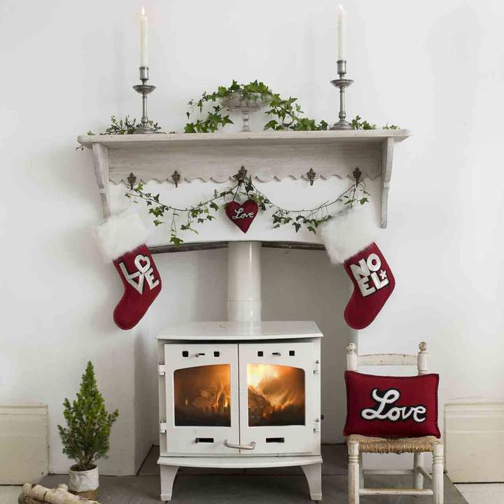 Sequin Noel Christmas Stocking (Red)