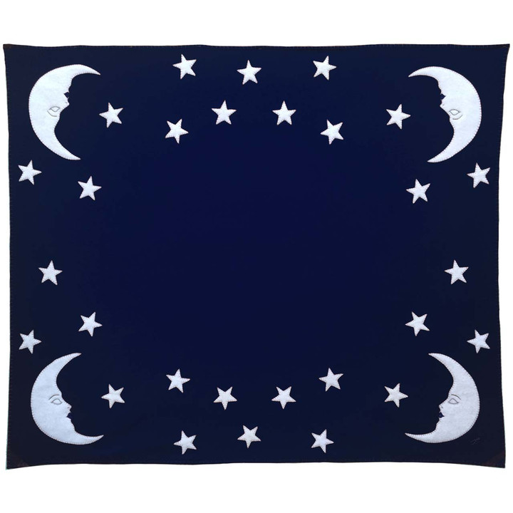 Mr Moon and Stars Throw (Navy blue)