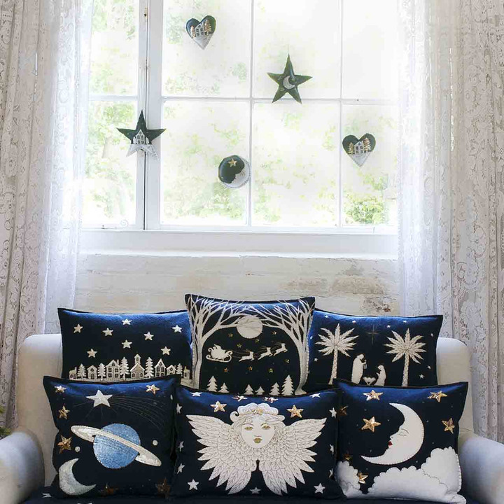 Starry Night Christmas Star Decoration (Navy blue)