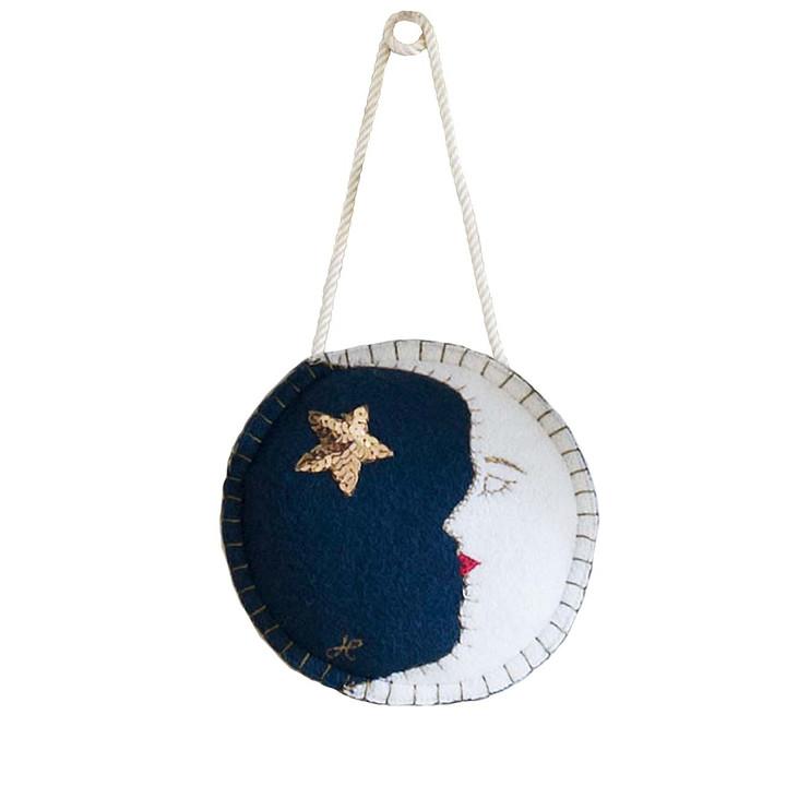 Mr Moon Christmas Decoration (Navy blue)